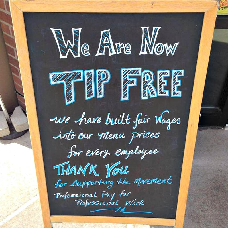 Restaurants are banning tips and increasing prices